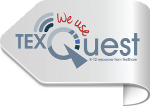TexQuest logo pointing left